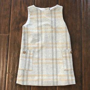 NWT Jacadi girls wool plaid jumper